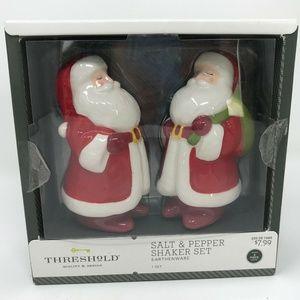 Threshold Santa Salt & Pepper Shaker Earthenware